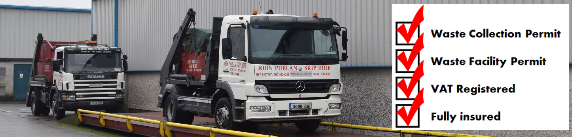 skip hire ireland waste facility permit header image